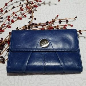 Kenneth Cole Reaction Royal Blue Trifold Wallet